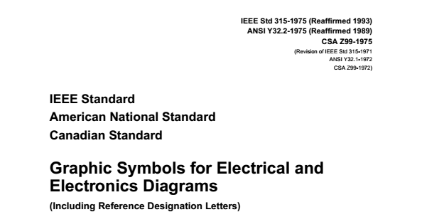 Ieee Graphic Symbols For Electrical And Electronic