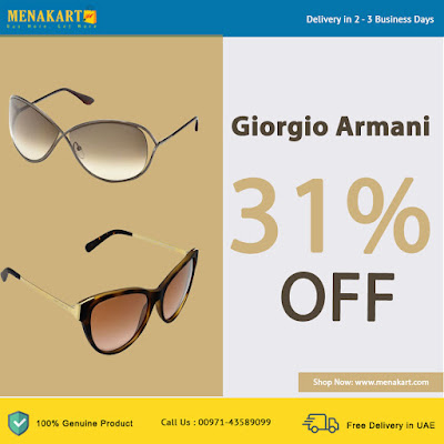 Giorgio Armani Polarized Black Rectangle Men's Sunglasses