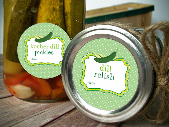 dill relish canning labels