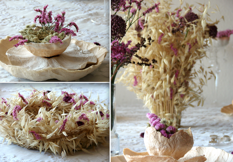 Centrotavola Matrimonio Country Chic : Eco wedding design fiori di carta e secchi per un