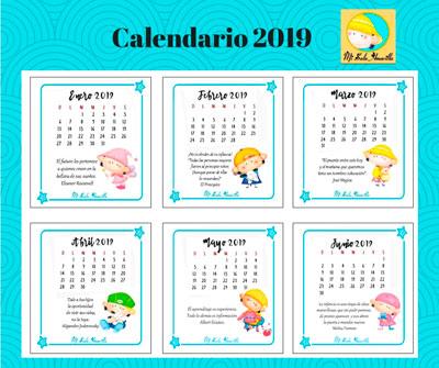 Calendario Diciembre 2019 Para Imprimir Argentina.Mi Sala Amarilla Calendario 2019 Para Imprimir