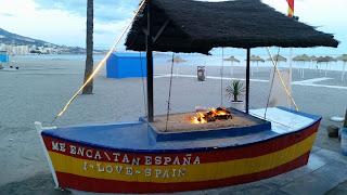 I love Spain rakastan Espanjaa Fuengirolan ranta illalla