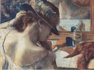 Mujer frente al espejo. Edgar Degas, 1899.
