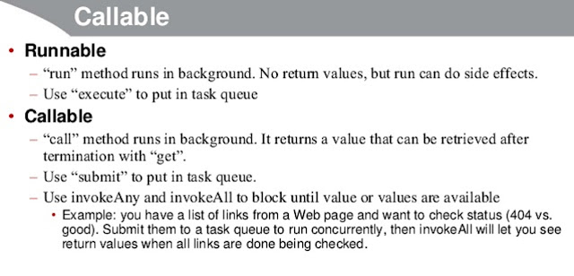 Runnable vs Callable in Java