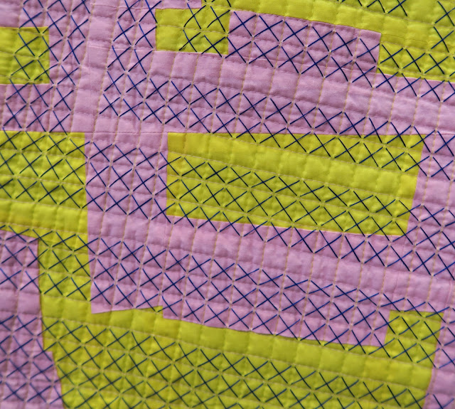 Quiltcon 2019 - Close-up of Zeroing In by Jen Broemel