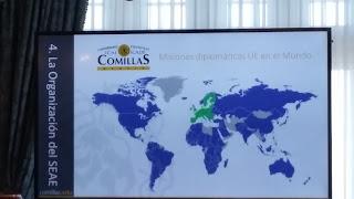 Mapa de las misiones diplomáticas de la UE
