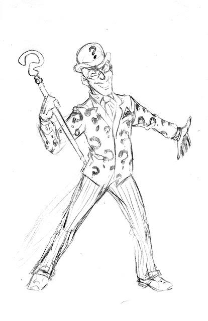 wonderealm graphics: Riddler sketch