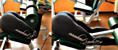Flexión bíceps femoral ejercicio mujer