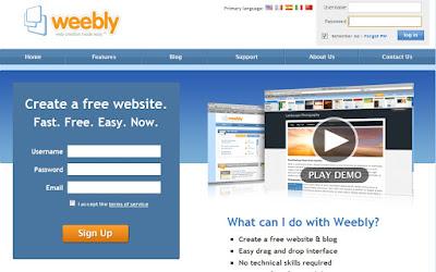 Plataforma Weebly