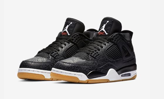competitive price 23777 c16ae Air Jordan 4 Black Laser Retro Sneaker (Detailed Look + Release Date Info))