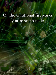 On the emotional fireworks you're so prone to Cover