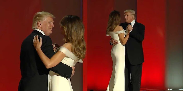 PRESIDENT DJT AND FIRST LADY  MEL AT THE BALL