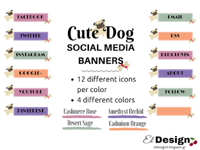 cute dog social icons