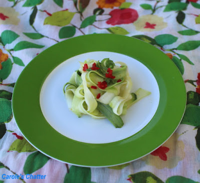 Carole's Chatter: Shaved Zucchini Salad – Revisiting a Simple Favourite