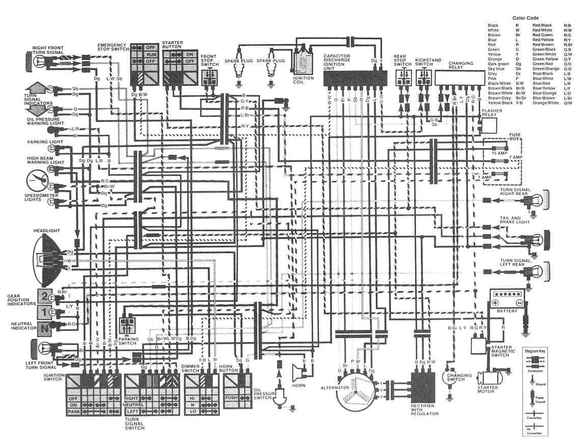 Wiring Diagram Honda Scooter : Honda cm a motorcycle complete wiring diagram all