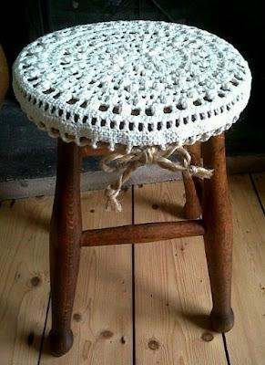 DIY Decoração - Capa Para Banquinho Redondo em Croche Com Barbante - Gráficos e Sugestões 39