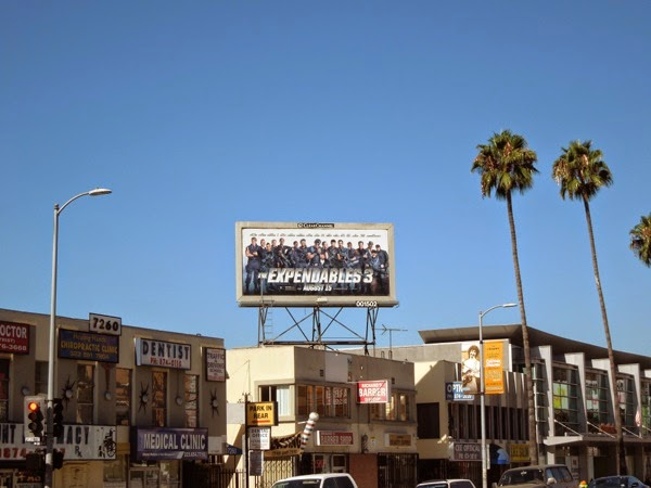 The Expendables 3 billboard