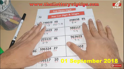 Thai lottery direct set VIP 3up set must win paper 01 September 2018
