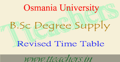 OU Degree BSc supply 1st 2nd final year revised postponed time table 2016