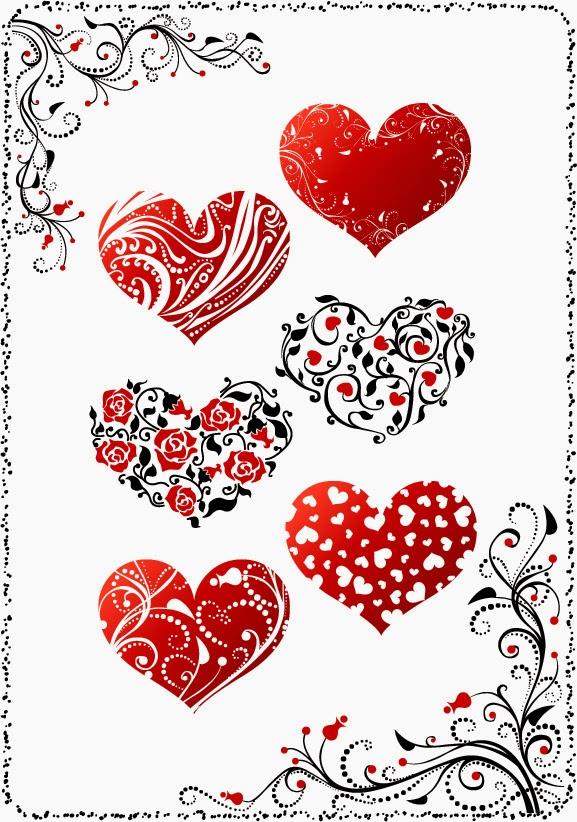 Vector hearts free فيكتور قلوب روعه