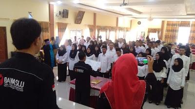 Pengawas TPS Se Kecamatan Parsel, Resmi Dilantik