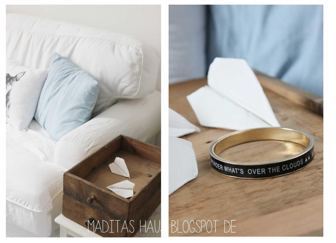 diy paper plane aus modelliermasse maditas haus lifestyle und interior blog. Black Bedroom Furniture Sets. Home Design Ideas