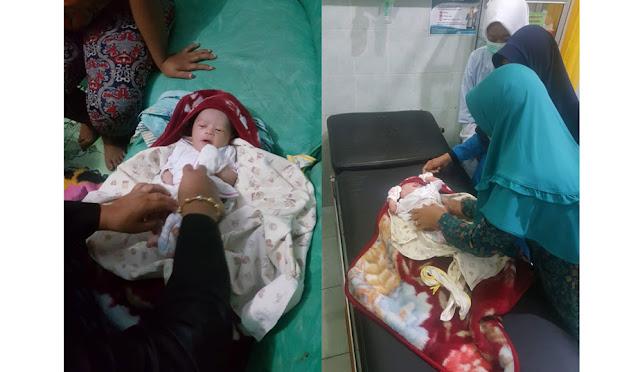 Kondisi bayi yang diamankan