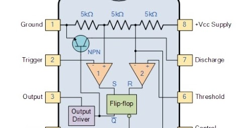 The Digital Knight Explain 555 Timer Draw Its Internal Diagram And