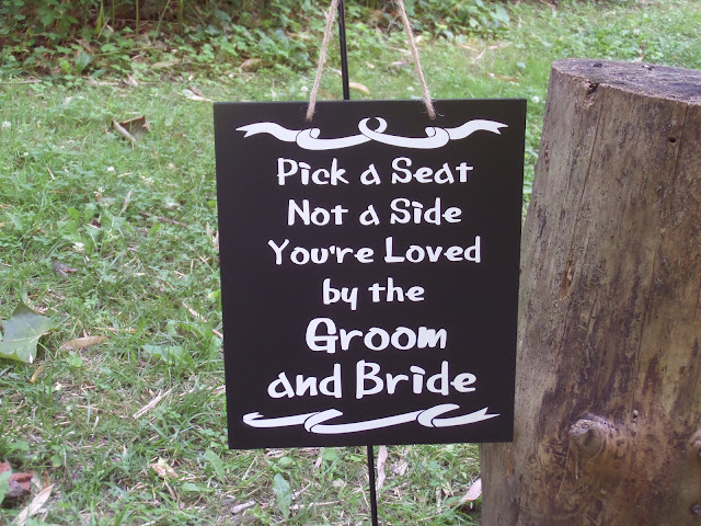 bridal ceremony sign