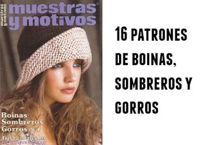 Boinas, sombreros, gorros revista 16 patrones