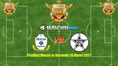 AGEN BOLA - Prediksi Macae vs Resende 24 Maret 2017