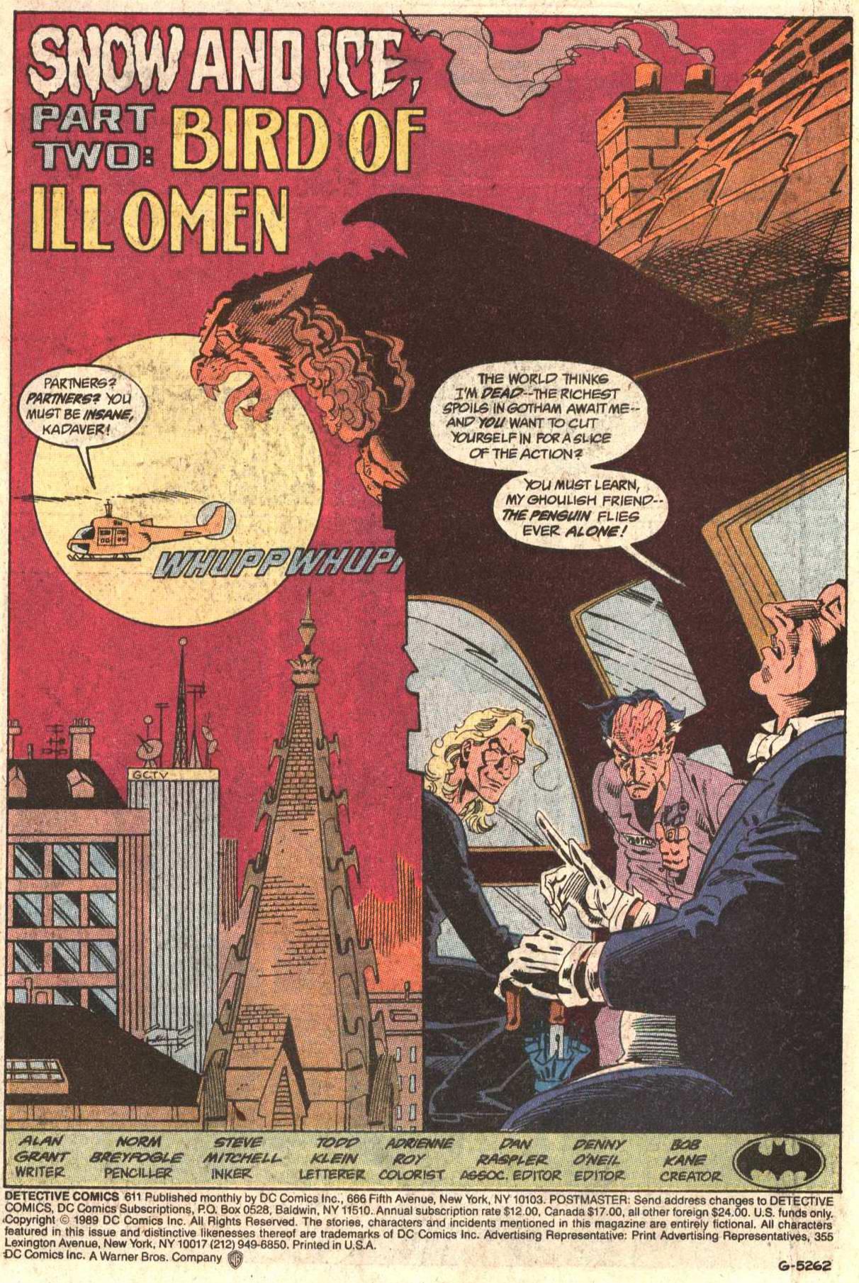 Detective Comics (1937) 611 Page 1