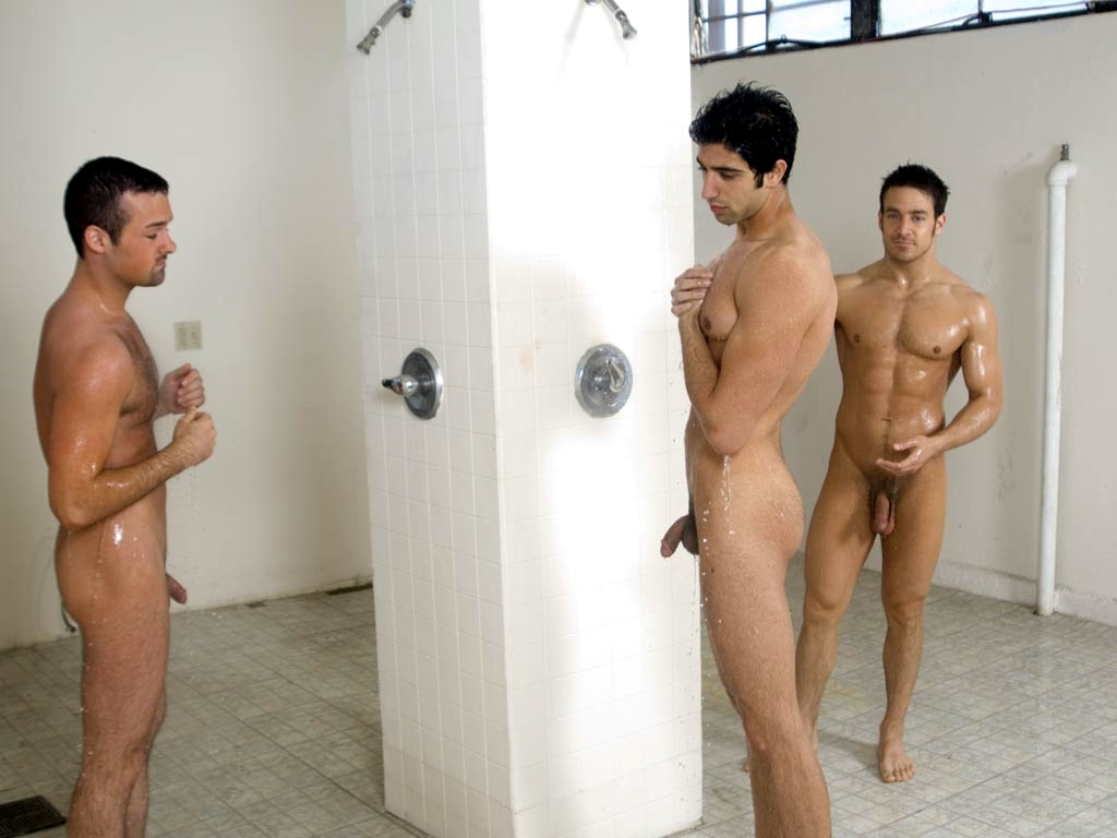 Hot naked guys in the shower