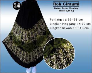 Rok batik model umbrella edisi special