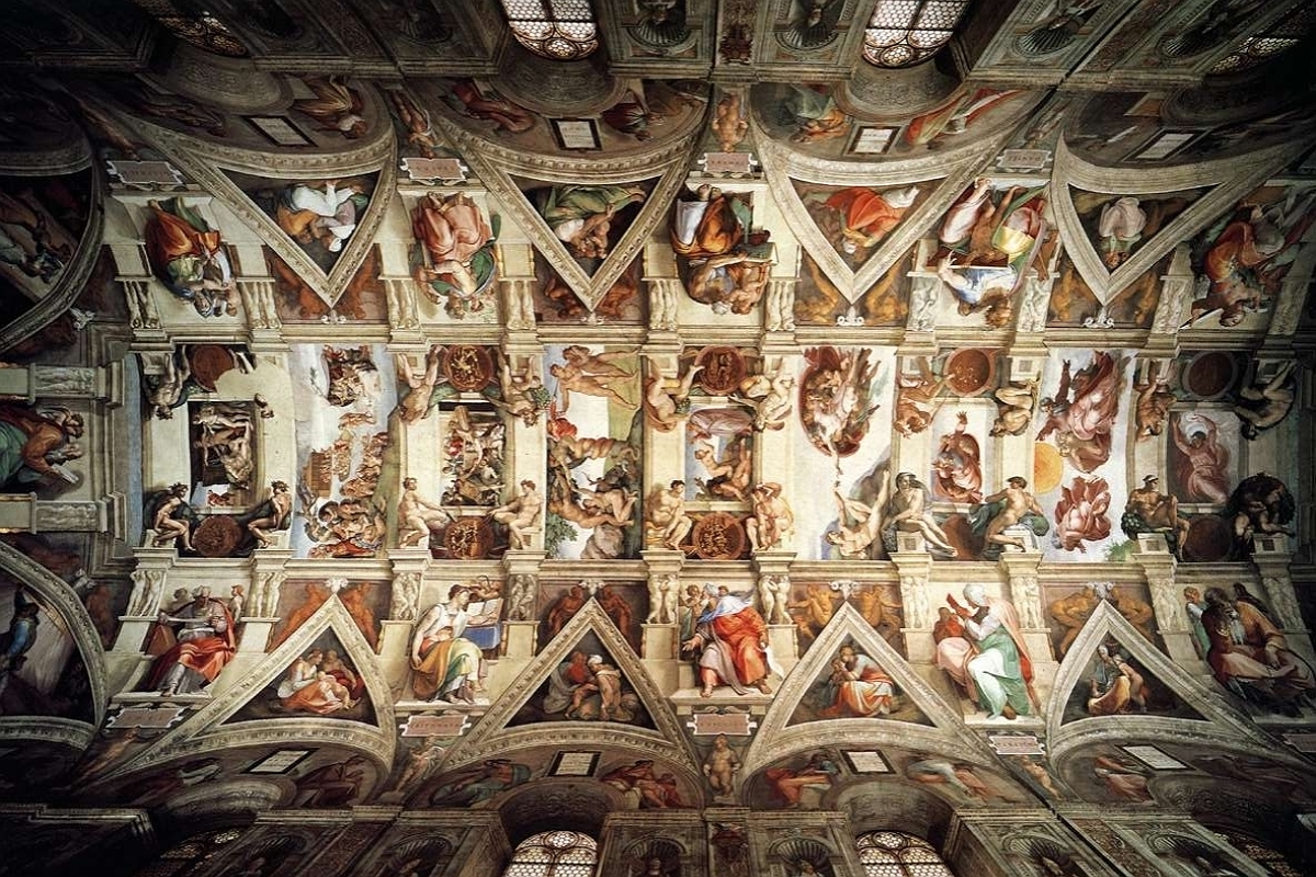 Michelangelo and the popes ceiling