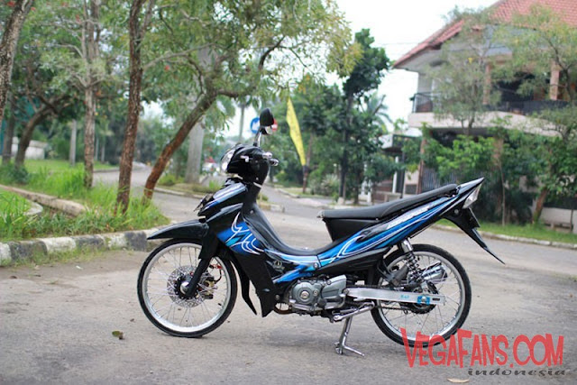 Modifikasi Jupiter Z Hitam Modif Simple Striping Spark