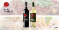 Probar gratis vinos tinto y blanco de Rene Barbier