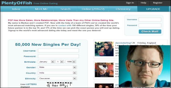 Plenty of fish dating site of online dating