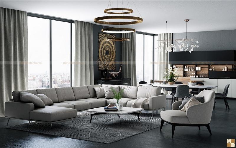 Mẫu thiết kế căn hộ chung cư 130m2 đẹp tinh tế đến từng chi tiết - H1