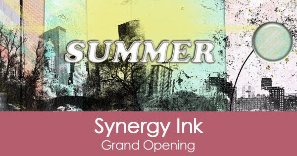 """SUMMER IN THE CITY"" Grand Opening + #FREEBIE: Synergy Ink at Digital Scrapbooking Studio"
