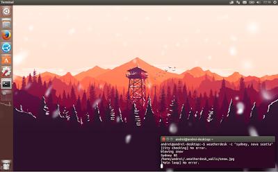 WeatherDesk weather-based wallpaper Linux