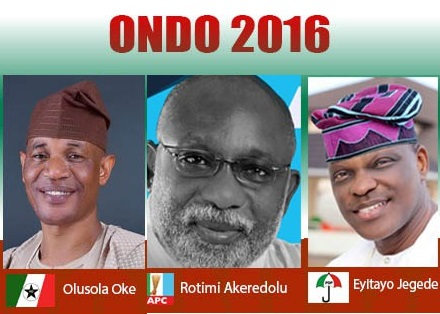 Ondo Governorship Full & Final Official Results: APC 14 LGs, PDP, AD; 2 LGs Each