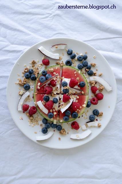 Melonenpizza, gesunde Pizza, Foodblogerin Schweiz, Beerenkuchen, Beeren Pizza, gesunde Rezepte, Blog Schweiz