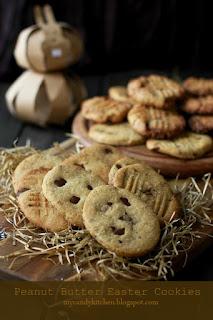 Великденски бисквити: Яйца с фъстъчено масло и шоколадови парченца / Peanut Butter Easter Cookies