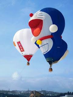 Gambar Balon Terbang Karakter Doraemon Jumbo