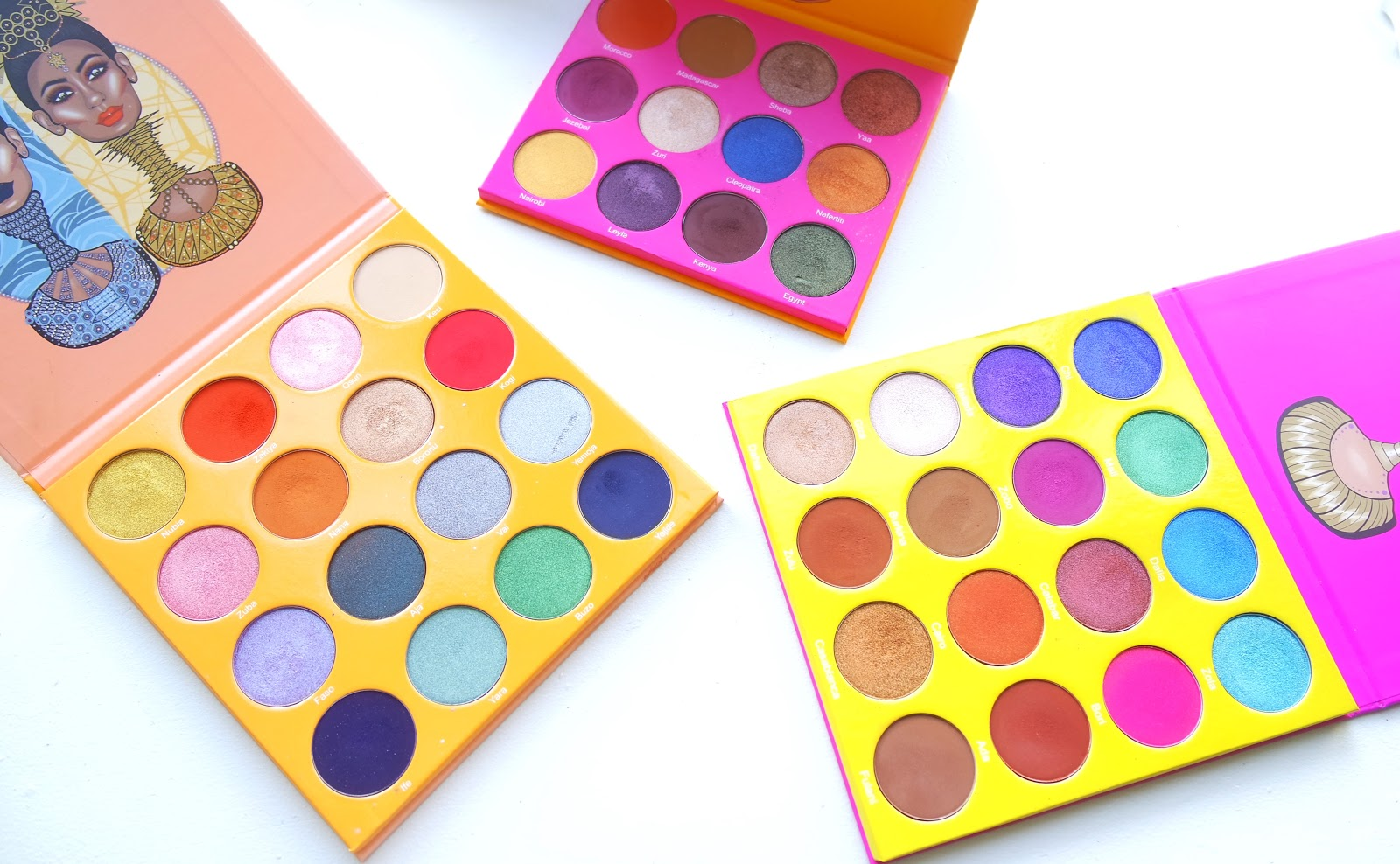Juvia's Place Cosmetics Eyeshadow palettes