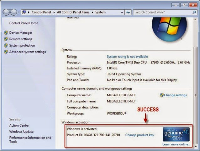 windows 7 ultimate service pack 1 activation key