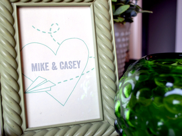 This Mike and Casey frame with a heart is adorable.