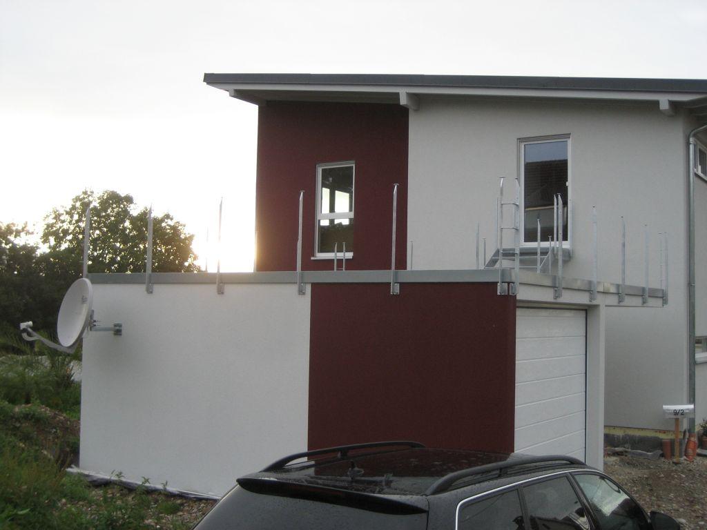 wir bauen orange ahoi garagen dachterrasse. Black Bedroom Furniture Sets. Home Design Ideas