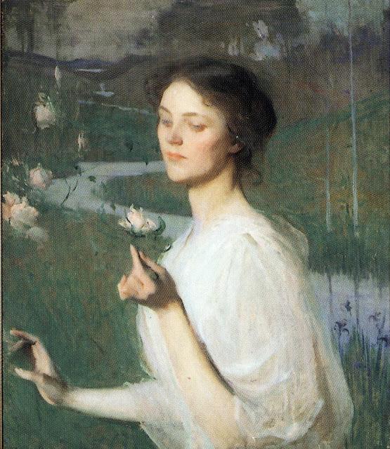 Frank Weston Benson, International Art Gallery, Self Portrait, Art Gallery, Portraits of Painters, Fine arts, Self-Portraits, Painter Frank Weston, Portrait of woman
